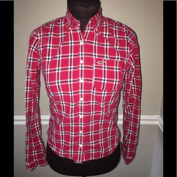 Hollister Tops - Hollister plaid button down shirt women's S